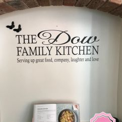 Kitchen Wall Art Outdoor Kitchens On A Budget Personalised The Family Sticker Vinyl Decal Pvc